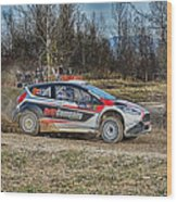 Rally Car Wood Print