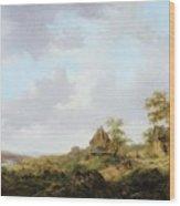 Ramblers On A Path Wood Print