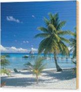 Rangiroa Atoll, Kia Ora Wood Print