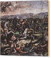 Raphael The Battle At Pons Milvius  Wood Print