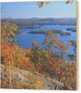 Rattlesnake Cliffs Squam Lake Wood Print