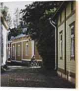 Rauma Old Town Wood Print