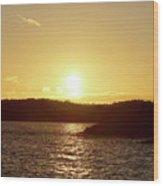 Raumanmeri Sunset Wood Print