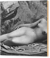 Reclining Nude, C1885 Wood Print
