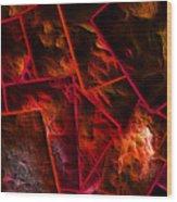 Red Chocolate Wood Print