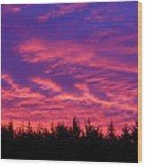 Red Clouds At Dawn Wood Print