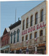 Red Dog Saloon Wood Print