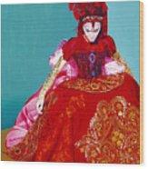 Red Dress Wood Print