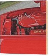 Red Engine Wood Print