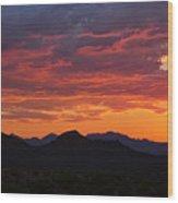 Red Hot Desert Skies  Wood Print