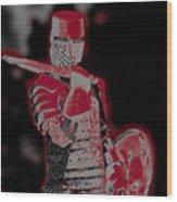 Red Knight Wood Print