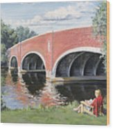 Red Of The Charles Wood Print by Steven A Simpson
