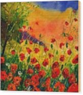 Red Poppies 451 Wood Print