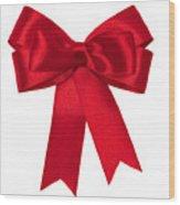 Red Ribbon Wood Print