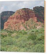 Red Rock At Caprock  Wood Print
