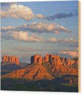 Red Rocks Sunset Wood Print