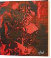 Red Series No. 2 Wood Print