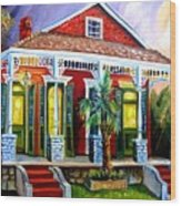 Red Shotgun House Wood Print
