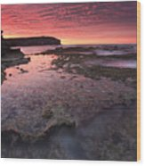 Red Sky At Morning Wood Print
