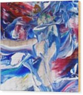 Red White And Blue Migraine Wood Print