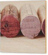 Red Wine Corks Wood Print