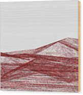 Red.318 Wood Print
