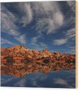 Redrock Reflections Wood Print