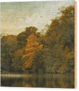 Reflecting October Wood Print