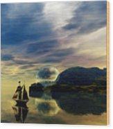Reflection Bay Wood Print