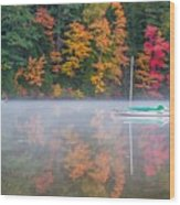 Reflection Of Fall Wood Print