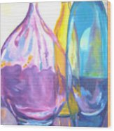 Reflections In Glass Wood Print