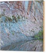 Reflections In Oak Creek Canyon Wood Print