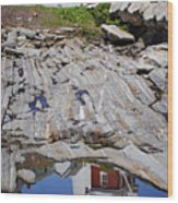 Reflections Of Pemaquid Wood Print