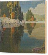 Reflective Lake Wood Print