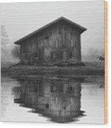 Reflective Morning Wood Print