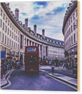 Regent Street In London Wood Print