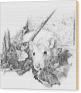 Reggie The Rat Wood Print
