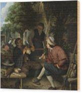 Resting Travellers Wood Print