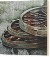 Resting Wheels Wood Print