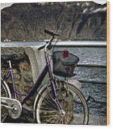Retro Bike Wood Print by Joana Kruse