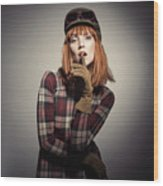 Retro Style Fashion Wood Print