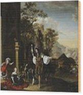 Return From The Hunt Wood Print