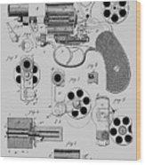 Revolving Fire Arm Patent 1881 Wood Print