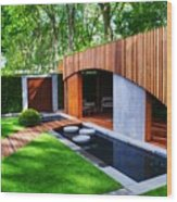 Rhs Chelsea Homebase Urban Retreat Garden Wood Print