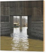 Richmond Floodwall Opening For Canal Wood Print