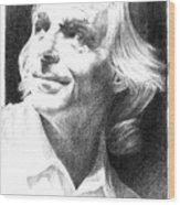 Rick Wright Of Pink Floyd Wood Print by Liz Molnar