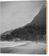 Rio De Janeiro Beach Wood Print