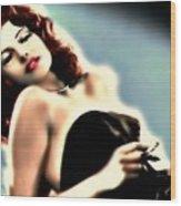 Rita Hayworth Wood Print
