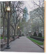 Rittenhouse Square In The Morning Wood Print