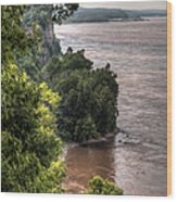 River Bluff View Wood Print